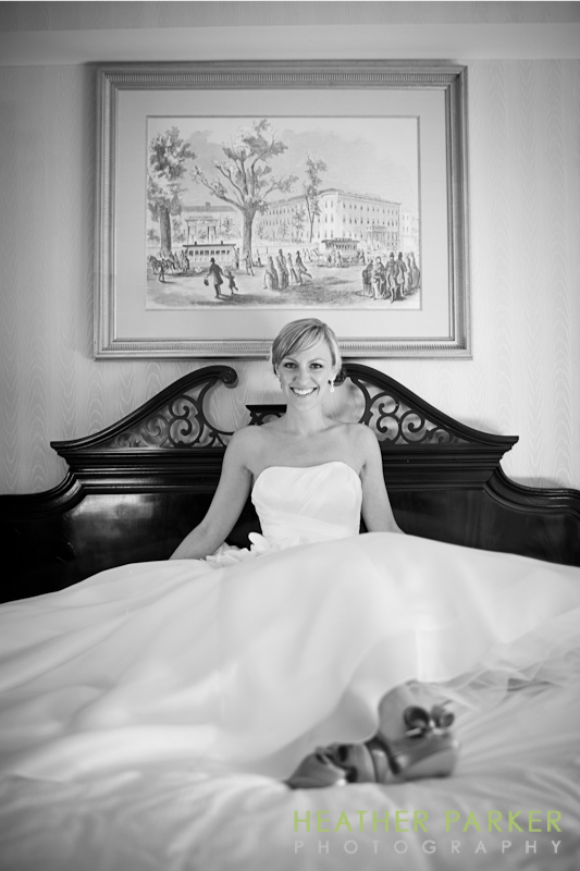 Omni Hotel Boston wedding suite photography by Heather Parker