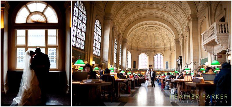 Boston Public Library wedding photography with reviews