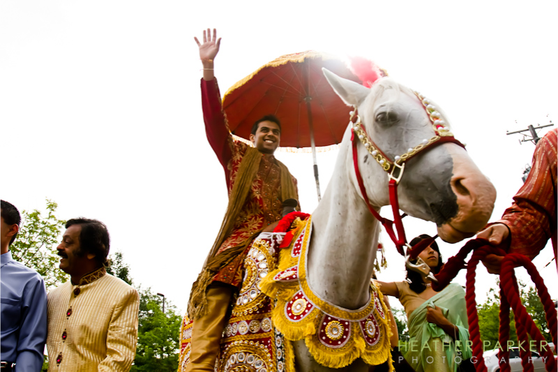 Chicago Indian wedding photography baraat horse