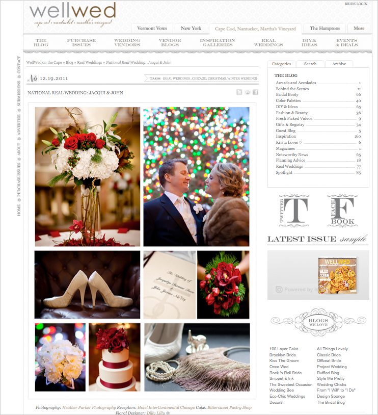 chicago winter wedding photography at on wellwed bog