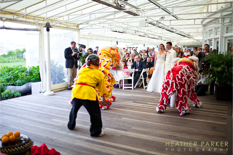 Chinese dragons Nantucket wedding photographer