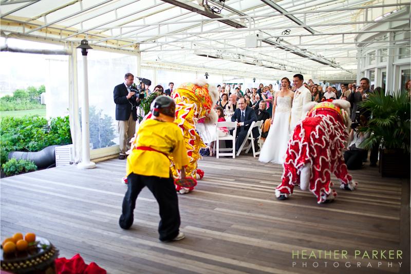 Chinese dragons Nantucket wedding photographer