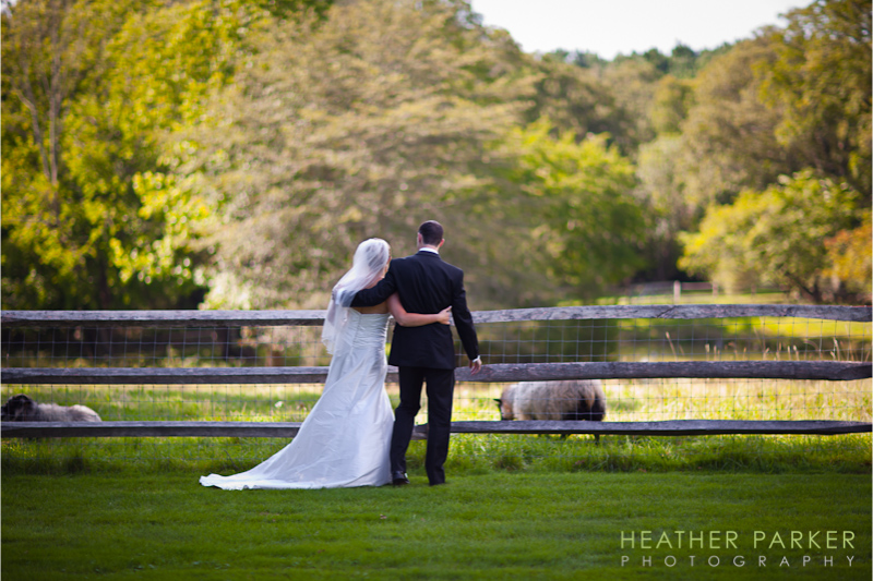 Farm wedding by Heather Parker