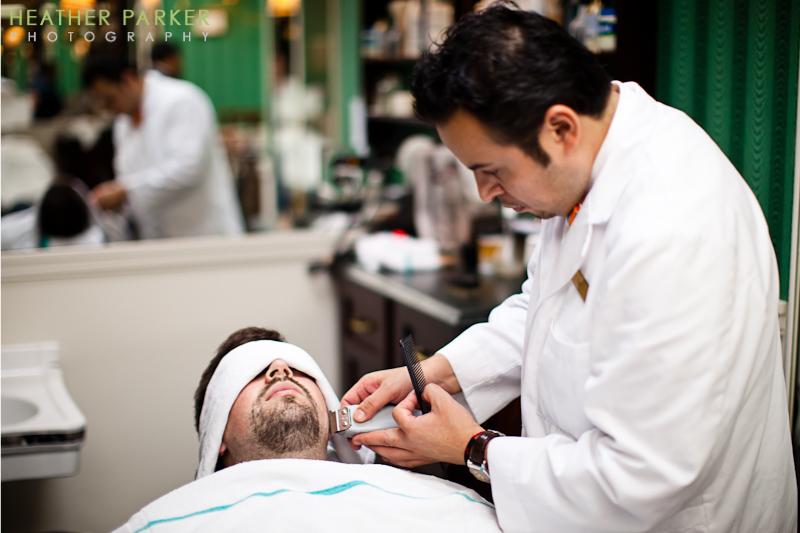 chicago wedding hot shave barber shop