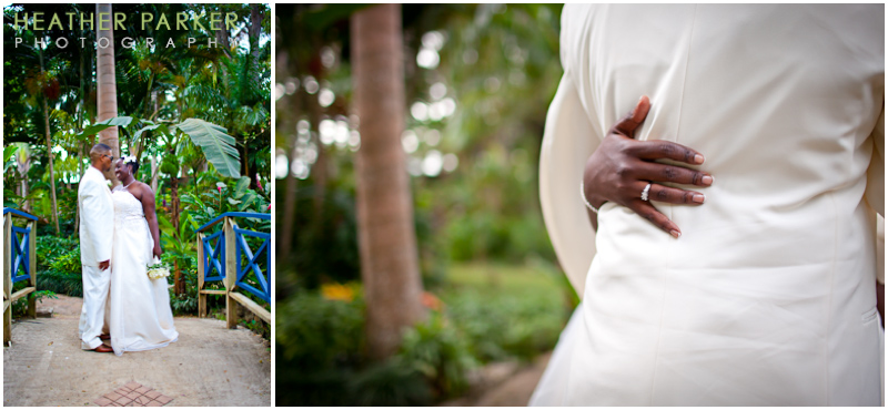 jamaica destination wedding photographer Cooling down under the arches