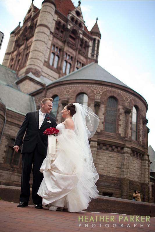 trinity church boston wedding photography