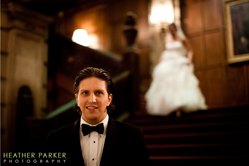 university club wedding photographer