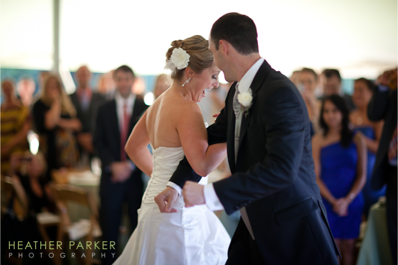 Boston outdoor wedding in a tent at a mansion venue by Heather Parker Photography
