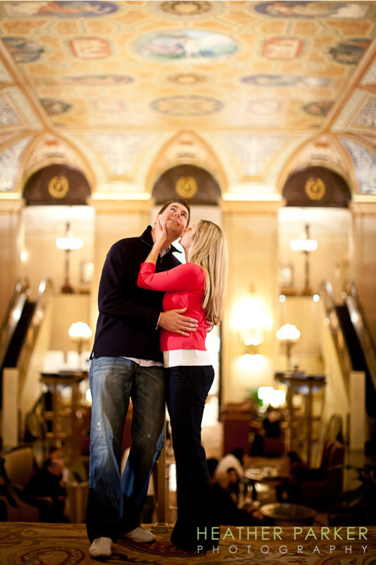 Chicago wedding photographer The Palmer House Hotel venue