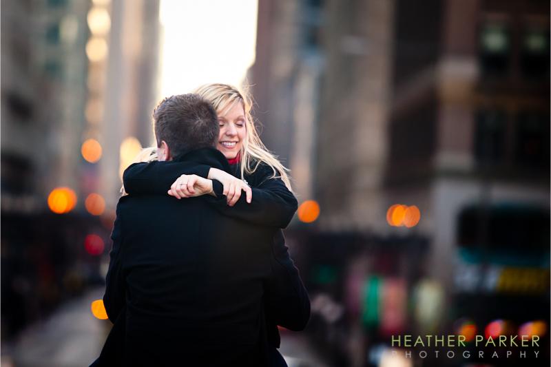 Chicago wedding photographer engagement photos at Millennium Park