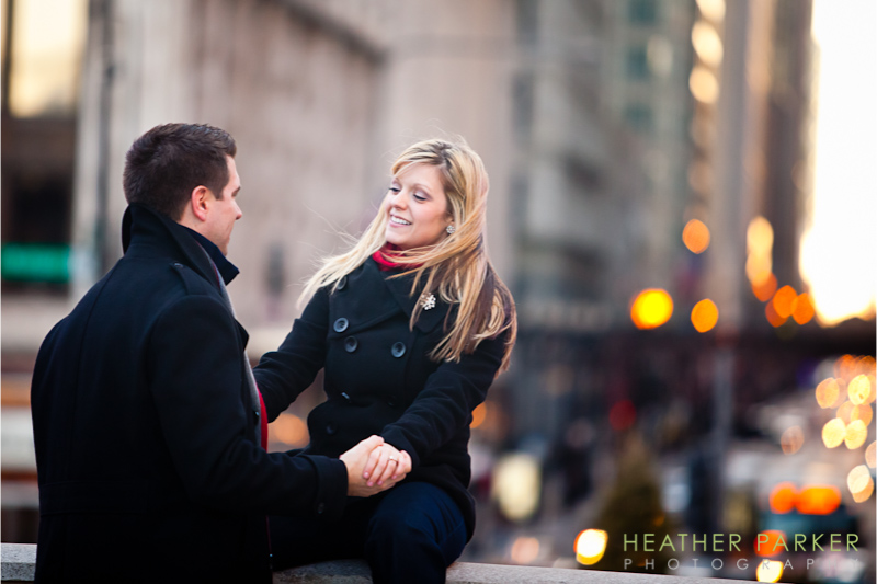 Chicago wedding photographer engagement photos at Millennium Park