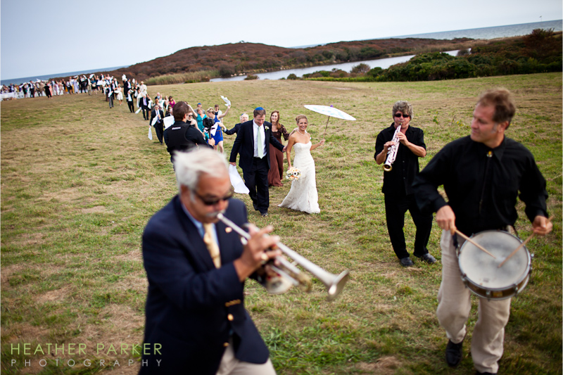 Martha's Vineyard wedding photography and New Orleans Second Line Parade