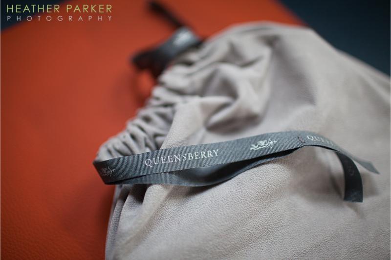 Queensberry Albums in orange by Chicago wedding photographer Heather Parker