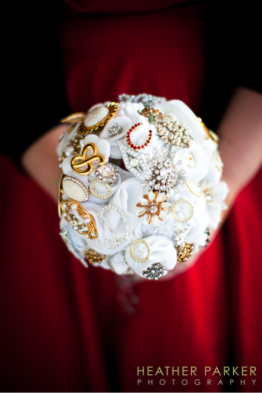 felt indie brooch wedding bouquet by Bride and Friends etsy