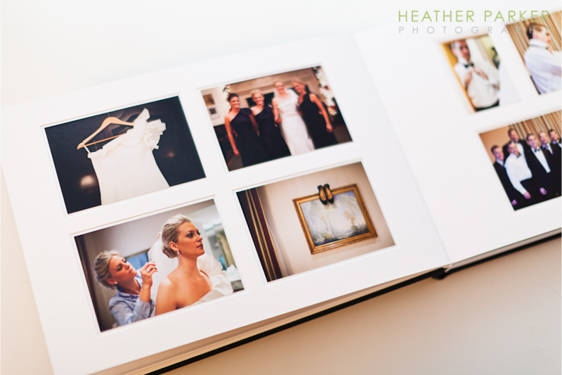 Queensberry Wedding Albums pagemount pages by Heather Parker Photography