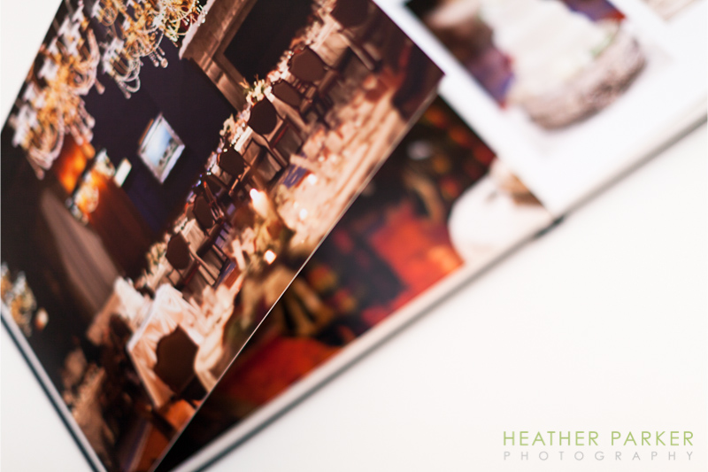 Panoramic wedding album pages Heather Parker Photography