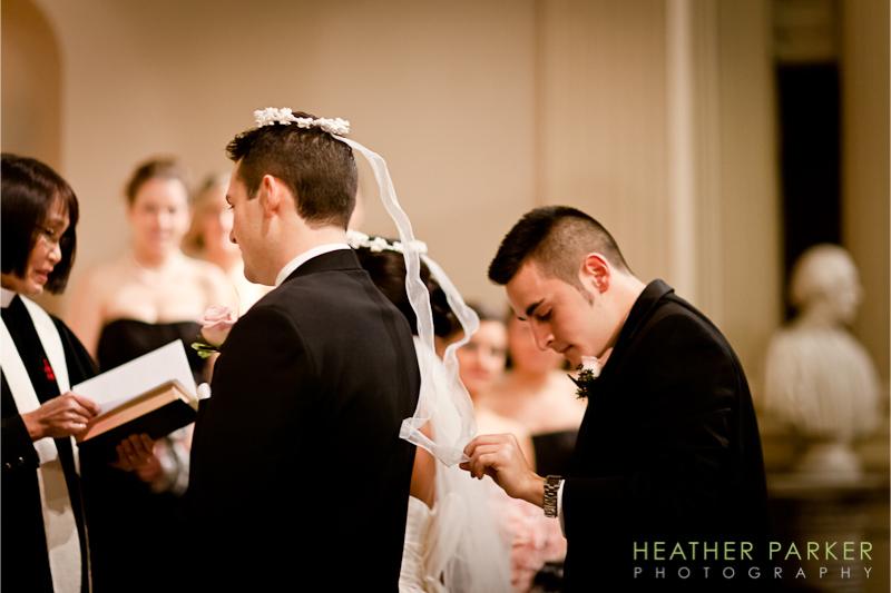 King's Chapel Greek Boston wedding photography by photographer Heather Parker