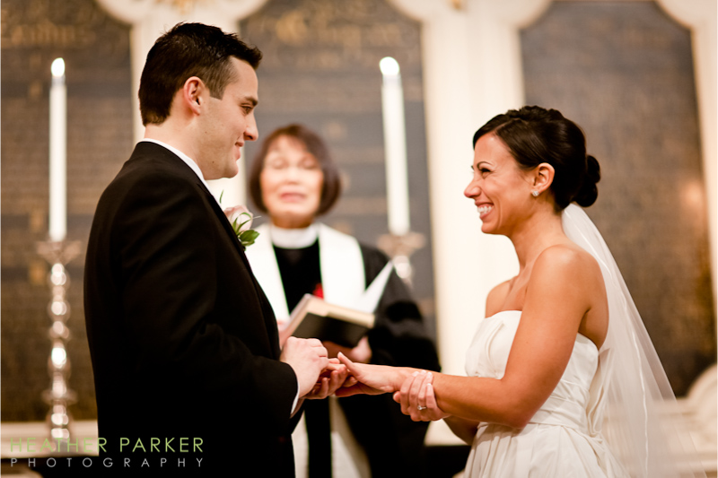 church Kings Chapel Boston wedding photographer Heather Parker Photography