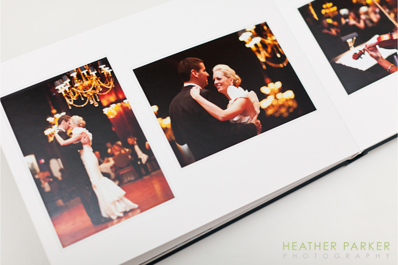Luxury wedding albums in Boston and Chicago by photographer Heather Parker