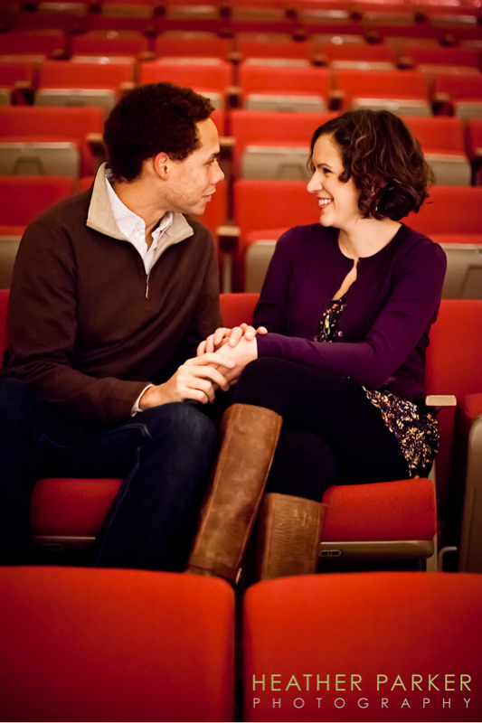 theater engagement session near chicago