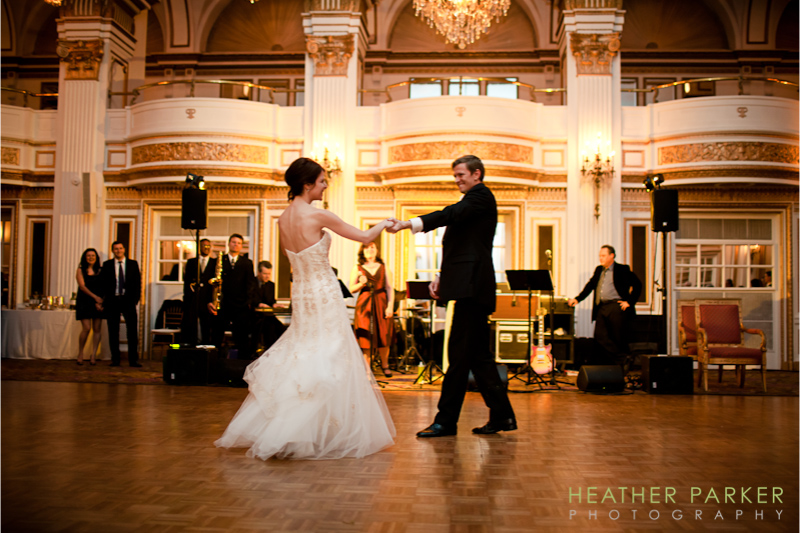 Fairmont Copley Plaza Hotel Grand Ballroom Boston Wedding of Liza and Andrew