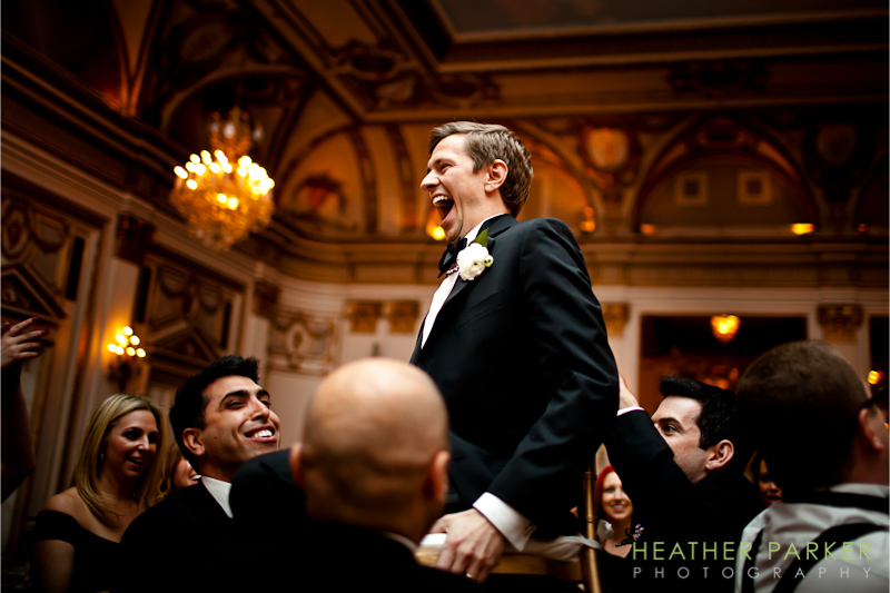 hora at Fairmont Copley Plaza Hotel Grand Ballroom Boston Wedding of Liza and Andrew