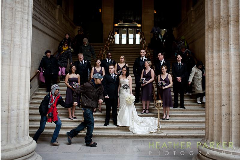 Chicago wedding photo invasion