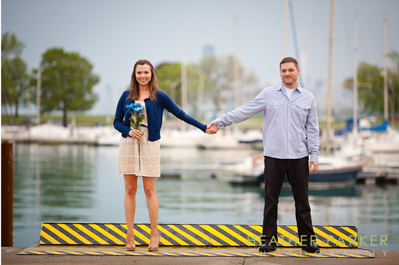 Elizabeth and Mike photos at the harbor