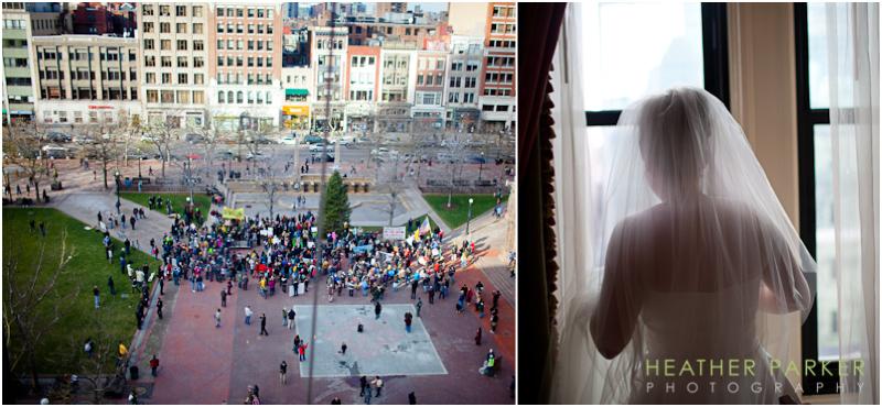 Occupy Boston wedding photo