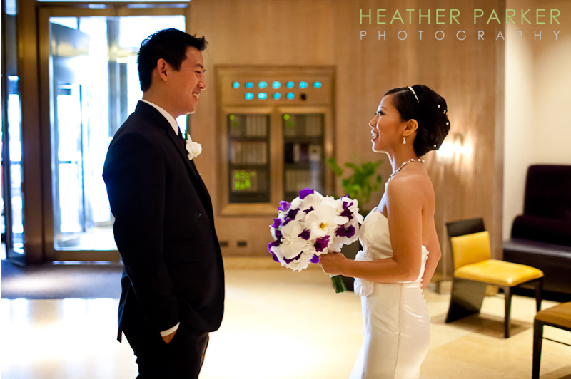 fairmont chicago wedding first look