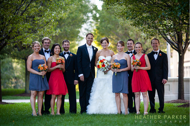 Modern Wing wedding at the Art Institute bridal party portraits