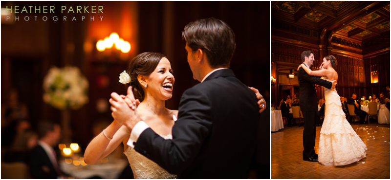 University Club of Chicago wedding reception with liven it up events