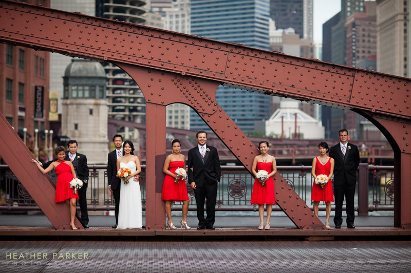 red modern asian wedding