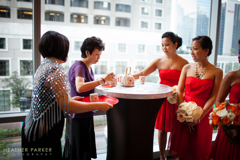 tea ceremony at a chinese wedding