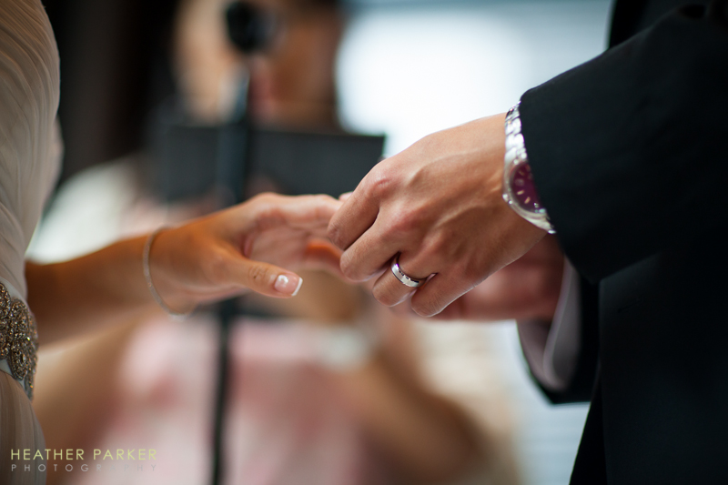 wedding vows at a hotel ceremony