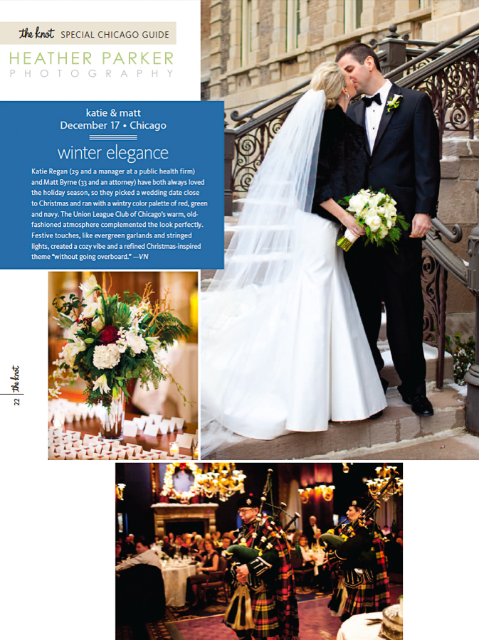 Boston wedding photographer in The Knot Magazine