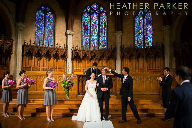 Wellesley College Chapel wedding photos at Houghton