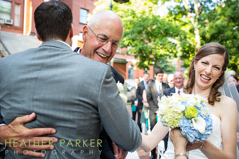outdoor ceremony at Cambridge Multicultural Arts Center