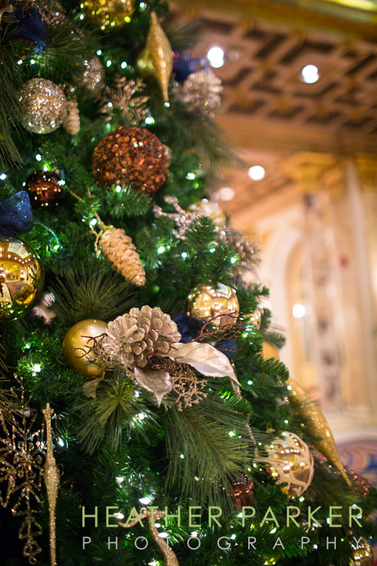 holiday tree at the Fairmont Copley in Boston