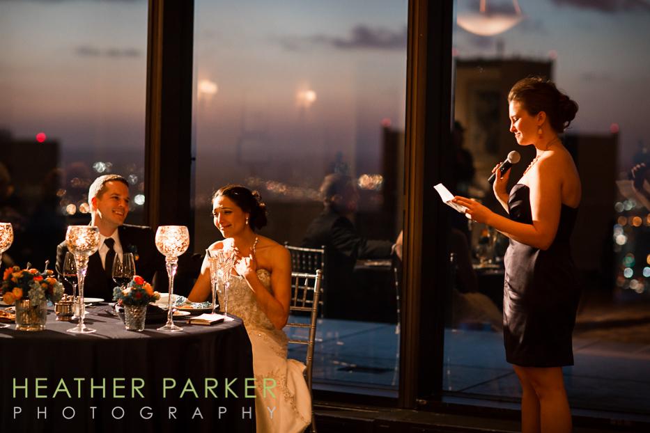 BC club evening wedding reception