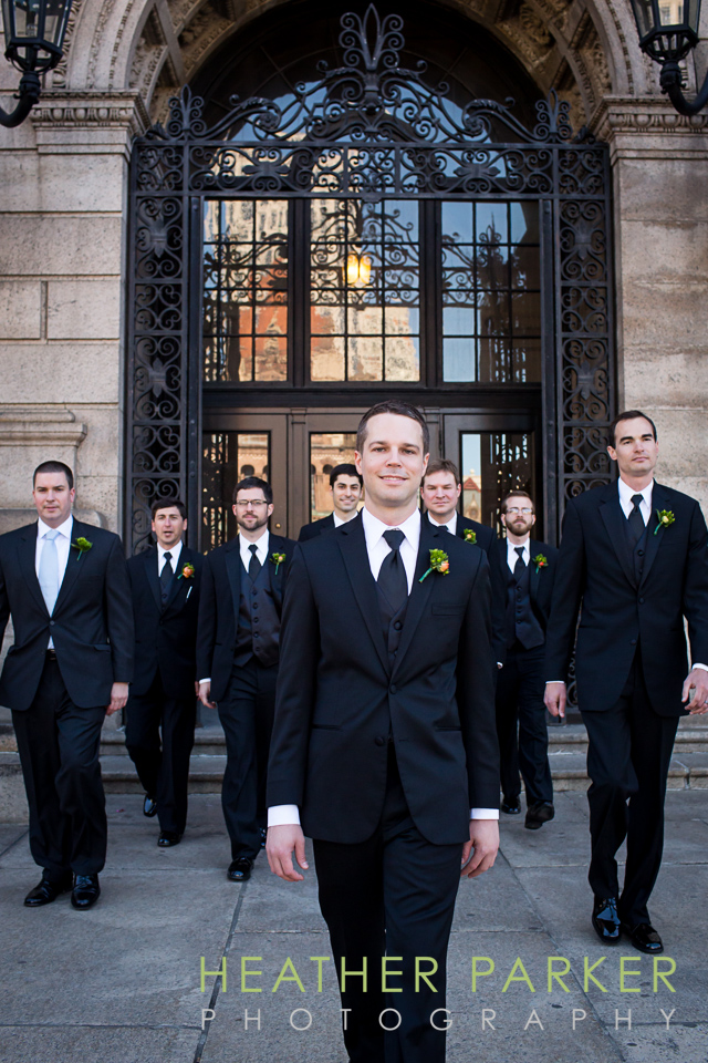 Boston Public LIbrary wedding photographers