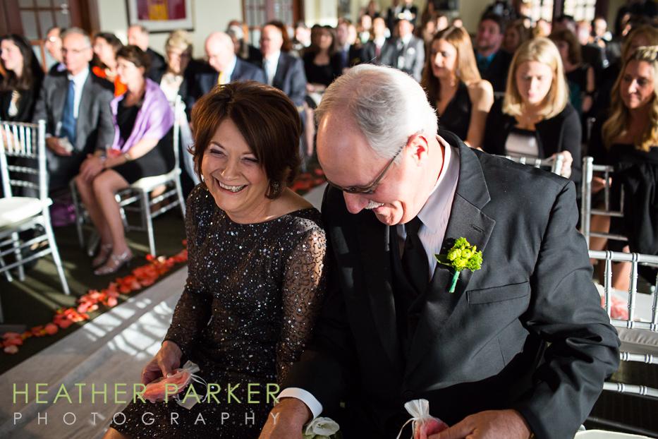 Boston College Club wedding ceremony photos