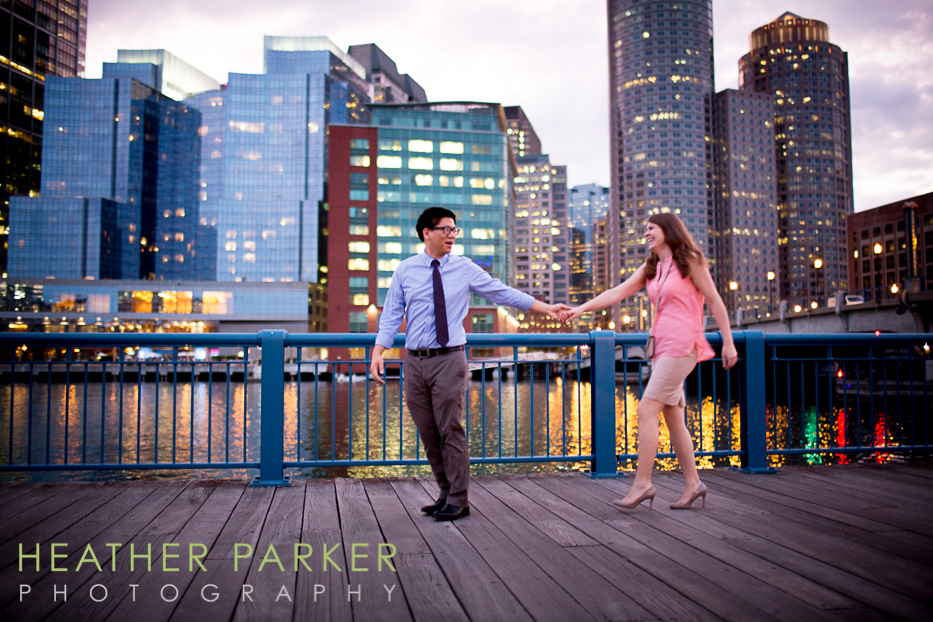 fun colorful engagement photography in Boston with reviews