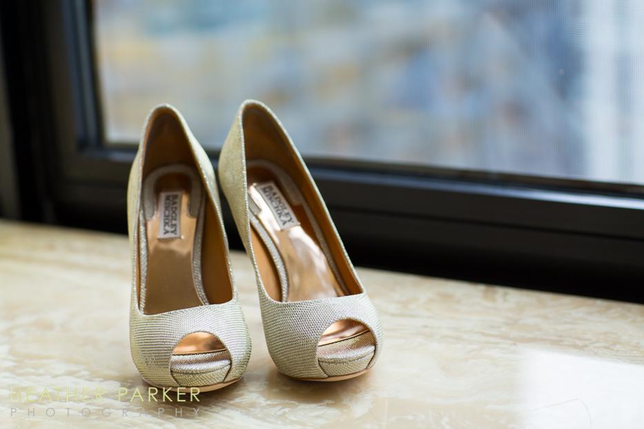 Badgley Mischka peep toe pump Wedding shoes