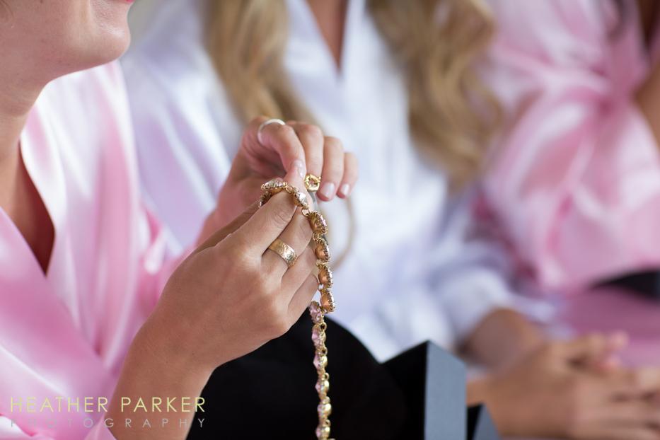 Ritz Carlton Chicago bridesmaid gift at wedding