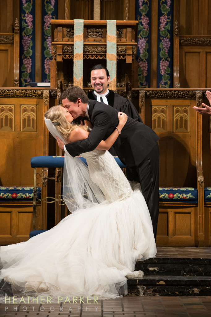 Chicago wedding ceremony at Fourth Presbyterian photos