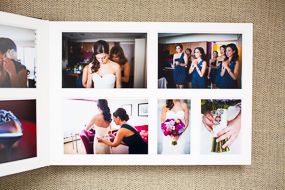Queensberry wedding albums shot by Boston photographer Heather Parker