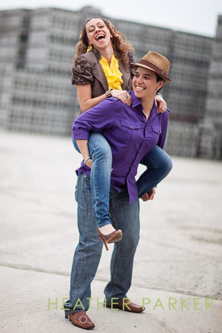 chicago engagement portraits lesbian posing