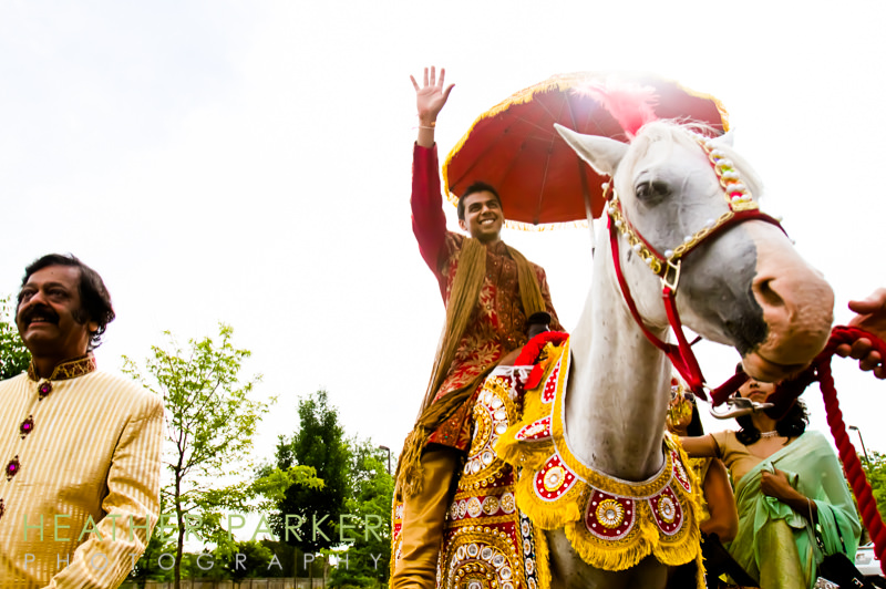 Chicago indian wedding baraat