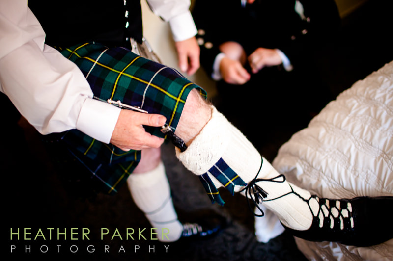 Scottish wedding getting ready pictures